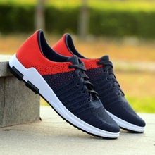 New men 's casual shoes lace fashion brand spring and summer shoes flat shoes men' s breathable shoes(China)