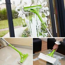 ISHOWTIENDA Telescopic Foldable Handle Cleaning Glass Sponge Mop Cleaner Window Extendable Hand Washing Mop Window Accessories(China)