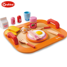 Onshine Children Colorful Wooden Food Toys Breakfast Pretend Play Kitchen Toys Set For Kids Pretend Food The Best Kids Gift