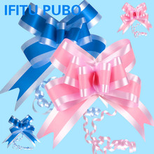 10pcs/set blue pink Organza Pull Bows Ribbon Wedding Centerpieces Wedding Car Decoration Gift Packaging Packing Wrap WYQ