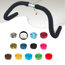 Colorful Cycling Handle Belt Bike Bicycle Cork Handlebar Tape Wrap +2 Bar Plugs Road Bike Handlebar Bicycle Parts