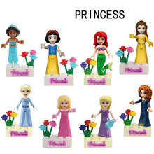 Friends Series Building Blocks Princess Figures Compatible with legoINGlys Friends For Girl 8pcs Pogoe Bricks education Toys(China)