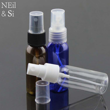 Plastic 30ml Women Perfume Spray Bottle Refillable Cosmetic Makeup Water Sprayer Container Blue Brown Clear Color(China)