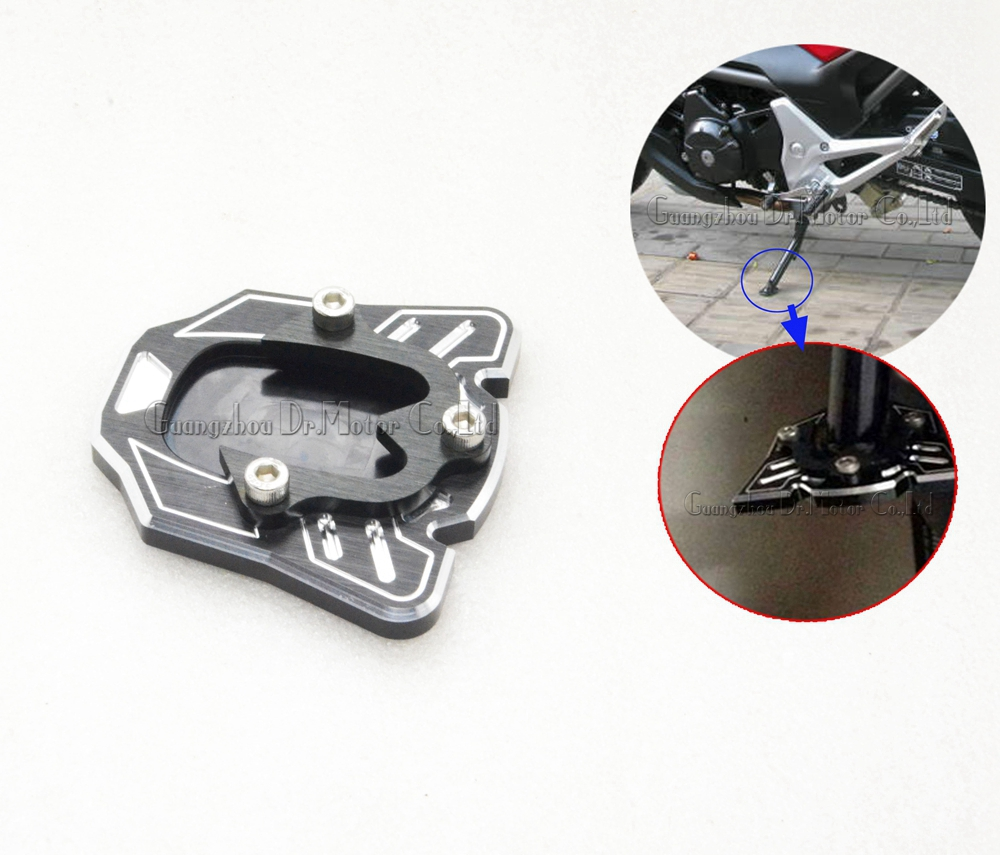Motorcycle Side Kickstand Stand Extension Plate Parking base adapter For HONDA CBR650F CB650F 2014-2015, CB400 VTEC 2008-2012<br><br>Aliexpress