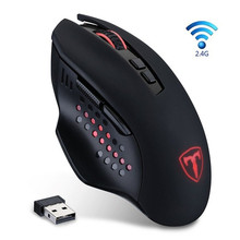 2.4GHz 4800DPI Wireless Gaming Mouse 7 Buttons LED Optical Mouse Gamer Ergonomic Computer Game Mice USB Receiver For PC Laptop(China)