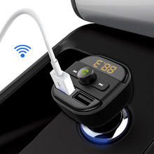 High Recommend REPLAITZ BT20 Bluetooth Car Kit Wireless FM Transmitter Dual USB Charger Audio MP3 Player 2 Colors Available(China)