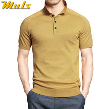 10colors summer mens polo sweaters Simple style cotton knitted short male pullovers top tees breathable 4XL Muls brand rl-7626