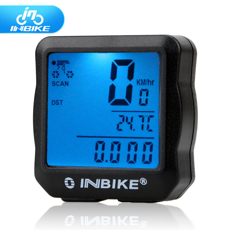 2017 INBIKE Wired Bike Computer Waterproof Backlight Cycling Bicycle Accessories Digital Speedometer Cycle Velo Computer Odomete(China (Mainland))