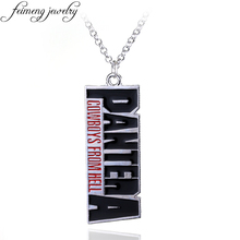 feimeng jewelry The Heavy Metal Band Pantera Necklace Music Band Pendant Necklace Cowboys From Hell Letter Necklace For Fans