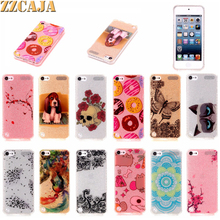 For Apple iPod Touch 6 Case Luxury Bling Bling Shiny Lovely Puppy Dog Cat Butterfly Skull Soft Anti-Knock Cover For iPod Touch 5(China)