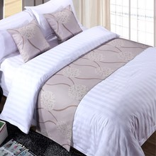 RAYUAN Polyester Bedspread Double Layer Bed Runner Throw Home Hotel Bedding Decor Single Queen King Bed Tail Towel(China)
