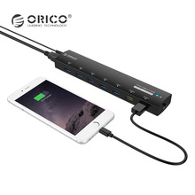 ORICO USB 3.0 HUB 5Gbps 7 Ports Super Speed Power Adapter Splitter 2 BC1.2 Charging Port for Desktop Windows XP Vista Linux(China)