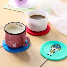 Hot Silicone Coaster USB Cup Heating Coffee Tea Warmer Pad Mat High Quality