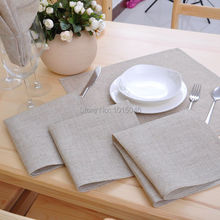 Free Shipping 10PC 28cm x28cm Non Embroidered Linen Napkins Wedding Supplies Decoration Home Accessories