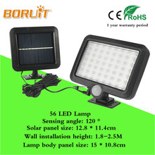 BORUIT Hot Selling 56 LED Solar Motion Detection Wall Light Solar Led Powered Garden Lawn Lights Outdoor Infrared Sensor Light(China)