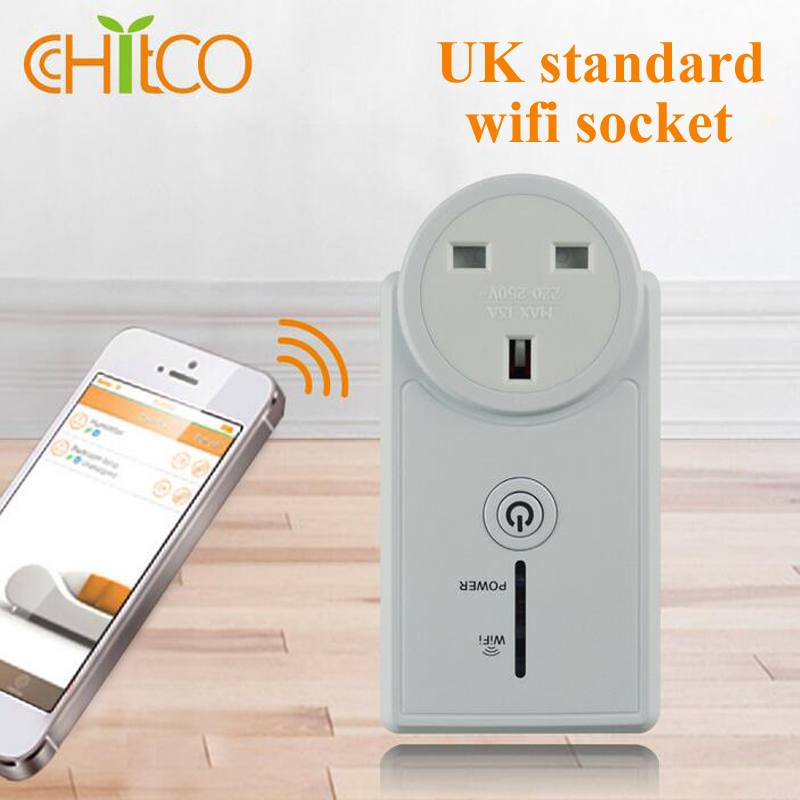 4pc UK standard Wifi Power Socket Wireless Plug Timer Switch Phone Wireless Remote Control Home Appliance Automation smart home<br><br>Aliexpress