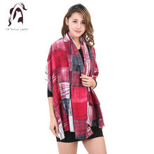 [YWJUNFU] 2017 New Design Women Scarf Unique Brand Cotton Scarf Scarves Shawl Long Size Print Bandana Scarves Wrap YJF023