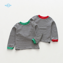 BigMa baby t-shirt boys girls blouse autumn children's bottoming striped long sleeved kids wear wholesale 2017