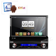 "XTRONS 7"" Android 4.4.4 autoradio Motorized Detachable touch Screen gps navigation SWC single 1 Din Car DVD Player automotivo"