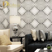 Dcohom Modern Simple Luxury European Style 3D Wallpaper For Bedroom Living Room Sofa TV Walls Decor Embossed Wall Paper Rolls(China)