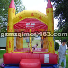 PVC 4.5x4 m tarpaulin inflatable bouncers with slide for kids and baby(China)