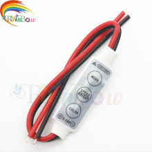 1pcs/lot 12V Mini 3 Keys Single Color LED Controller Brightness Dimmer for led 3528 5050 strip light Free shipping