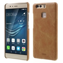 MOFI Phone Cases for Huawei P9 Mobile Phone Bag PU Leather Coated Hard Cover for Huawei P 9 Cell Phone Shell Fundas Capa - Brown
