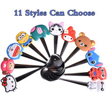 1PC Kids Meal Spoon Elephant Handle Kawaii Cartoon Silicon handles stainless steel Soup coffee spoon Tableware Kitchen Accessory(China)