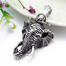 Punk DIY Thailand elephant pendant size:55*32 mm not fade Necklace pendant wholesale retail Unique style perfect jewelry gift(China)
