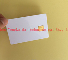 2000PCS/lot 1K PVC Blank Contact Smart card sle4428 blank chip cards