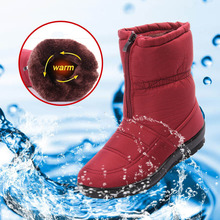 2017 Fashion Snow Boots Women Winter Boots Warm Mother Shoes Waterproof Women Boots bota feminina Plus Size 41 42