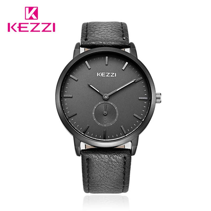 Hot Brand Kezzi Fashion Leather Strap casual Men quartz Watch small dial can Work For Men Business Wristwatch 30M Waterproof<br><br>Aliexpress