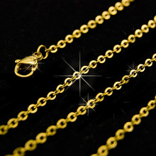 DIY woman o shape Chain golden thinner female cable necklace 1.5mm ROLLO Chain Stainless Steel fadeless bulk wholesale 04