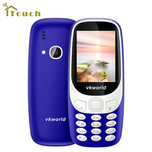 Original Vkworld Z3310 3D Screen 2.4 inch Elder Mobile Phone Loud Speaker FM Radio LED Light 2MP Camera Dual SIM Cell phones