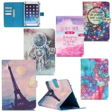 "Print 8 Patterns Wallet For Universal 7"" Tablet PU Leather Case Stand Cover For Android Tablet PC PAD Tablet 7 inch Stand Cover"