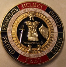 The wholesale price,Armor of God Pray Always Military Challenge Coin,50pcs/lot Free shipping