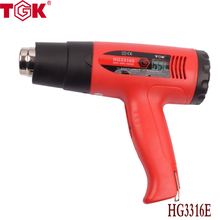 1600W LCD digital display Heat Gun Temperature Adjustable CE ROHS quality Hot Air Gun power tool for car body film  HG3316E