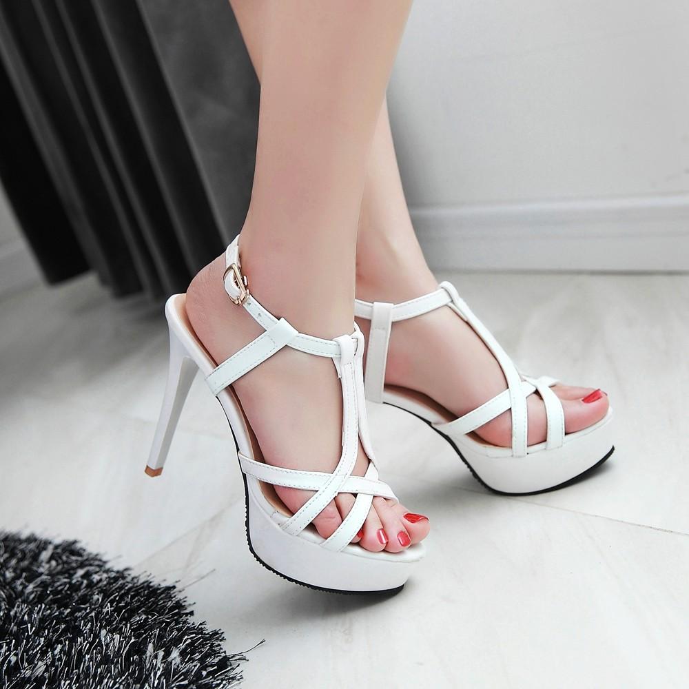 2017 Summer Sexy Fashion Big Size 34- 45 Sandals Ladies Lady Shoes High Heel Women Party Super Pumps M51<br><br>Aliexpress