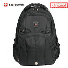 "Original Swiss Brand Men's Daily Backpack Big Capacity 15.6"" Laptop Backpack With Music Player Pocket and Airflow Back Sac a dos"