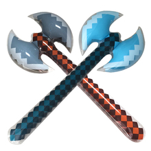 Oversized inflatable double-sided ax toys children inflatable sword weapons toys props 96CM parent-child toys