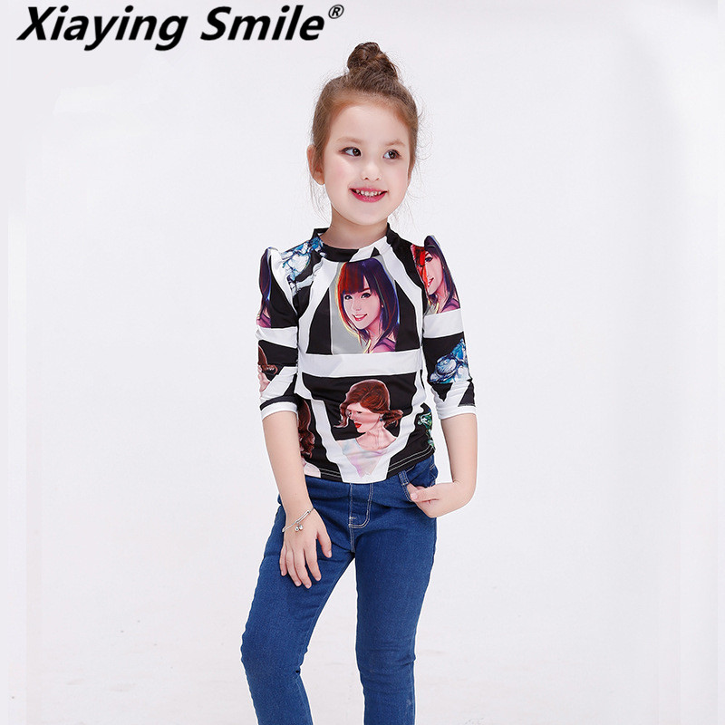 XiaYing Smile sa Baby Clothing Children O-Neck Long Sleeve T-Shirt Kid Bear Clothes Fashion all-match Casual Comfortable <br>