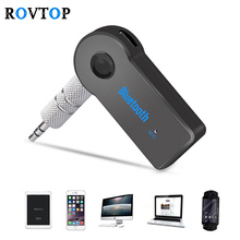Rovtop 3.5mm Jack Aux Handsfree Wireless Car Bluetooth Receiver Kit Adapter For Headphone MP3 Music Audio Reciever Adapter(China)