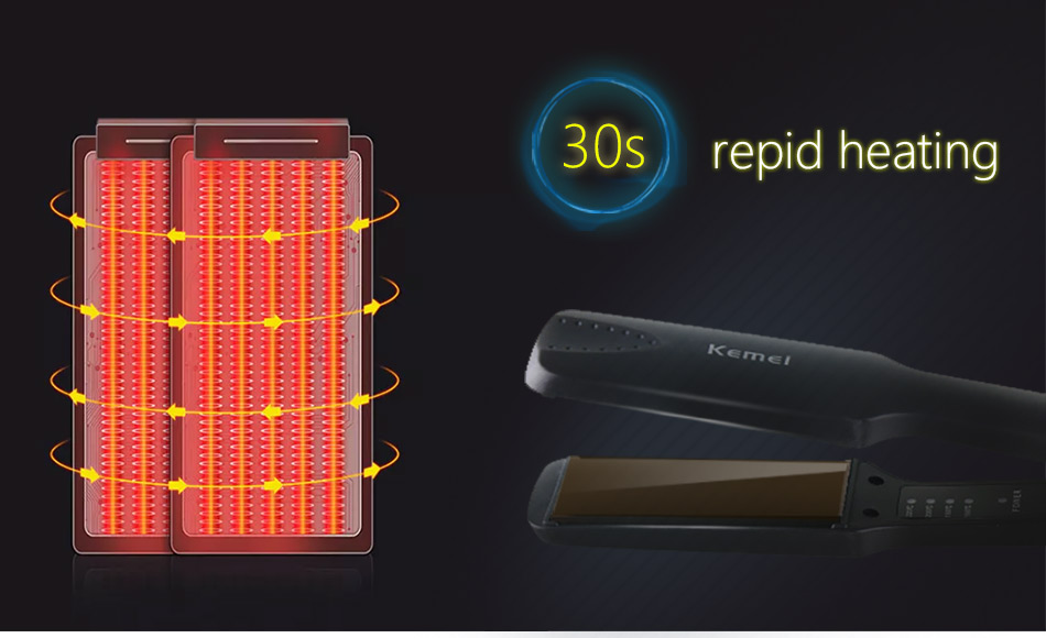 Kemei KM-329 Hair Straightening Iron 8