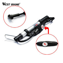 WEST BIKING Ultralight Aluminum Alloy Stable And Durable Cycling Bike Pump Portable Mini Pumps Travel Camp Bicycle Pump Inflador(China)