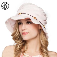 Queen 100% Cotton Wide Brim Sun Hat Ladies Elegant Pink Orange Carousel Crowns Foldable Summer Beach Visor Hats Chapeu Feminino