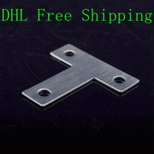 500Pcs/Lot DHL Free Shipping Factory Prices Stainless Steel Hardware Angle Brackets Metal Support Brackets for Bed or Chair(China)