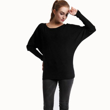 2017 New Casual Round Neck Women Sweater Knitted Blouses Thin Bat Sleeve Sweaters For Women Jumper Winter Clothes Women Pullover