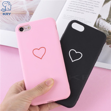 Buy KRY Relief Silicone Phone Cases iPhone 7 Case 8 Plus Cases iPhone X Lovely Soft Cover iPhone 6 Case 6S 5 5S SE Capa for $1.29 in AliExpress store