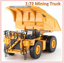 New KDW 1:72 Mining Truck Engineering Dump Car Alloy Metal Mini Artificial Model Pull Back Automobiles Machine Kid boy Toys Gift