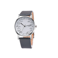 Famous Brand OKTIME Unisex Clock Lovers Cartoon Cat Watches Women&Men's Watch Casual Hour Leather Quartz Wristwatches kol saati